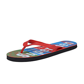 cheap Men's Shoes-Men's Comfort Shoes Rubber Summer Slippers & Flip-Flops Red / Green / Blue