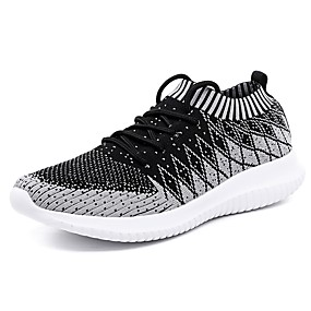 cheap Running Shoes-Men's Comfort Shoes Mesh / Elastic Fabric Spring & Summer Casual Athletic Shoes Running Shoes Breathable Camouflage Dark Grey / Light Grey / Red