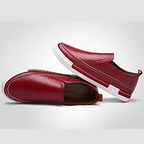 f7033ab3bf Homens Loafers de conforto Couro Sintético Primavera   Outono Formais  Mocassins e Slip-Ons Caminhada Cinzento   Amarelo   Vinho   EU40