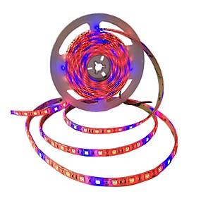 billige LED Økende Lamper-5 m Fleksible LED-lysstriper / Voksende Strip Lights 300 LED SMD5050 4 Rød + 1 Blå / 5Red + 1Blue / 3Red + 1Blue Vanntett / Selvklebende 12 V 1pc
