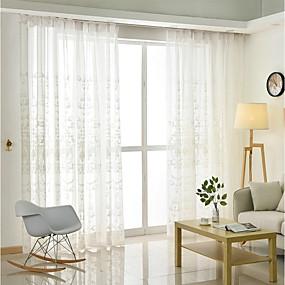 ราคาถูก ของประดับบ้าน-เกี่ยวกับยุโรป Sheer หนึ่งช่อง Sheer ห้องนั่งเล่น   Curtains / การเย็บปักถักร้อย