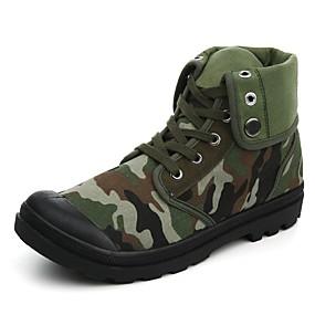 baratos Botas Masculinas-Homens Fashion Boots Lona Primavera Verão Clássico / Casual Botas Não escorregar Botas Curtas / Ankle Arco-íris / Verde Tropa / Vermelho