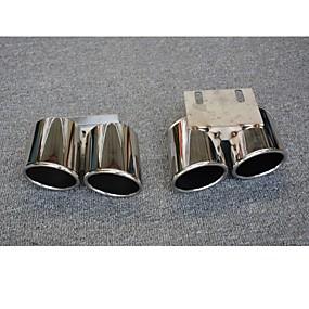 povoljno Dekoracija stražnjeg dijela automobila-2pcs Savjeti za ispušne cijevi Cool Nehrđajući čelik Ispušni Mufflers Za Audi A3 2017