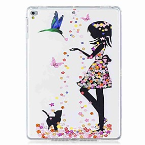 cheap Tablet Accessories-Case For Apple iPad (2018) / iPad (2017) Pattern Back Cover Butterfly / Sexy Lady Soft TPU for iPad Mini 5 / iPad Air / iPad 4/3/2