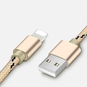 voordelige iPhone-kabel en laders-Verlichting Kabel 1m-1.99m / 3ft-6ft Gevlochten / Snelle kosten Nylon USB kabeladapter Voor iPhone