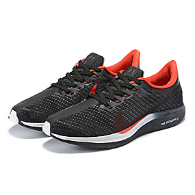 cheap Men's Athletic Shoes-Men's Comfort Shoes Elastic Fabric Spring & Summer Athletic Shoes Running Shoes Black and White