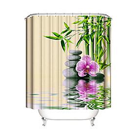hesapli Duş Perdeleri-Shower Curtains & Hooks Çağdaş Plastikler / Polyester Su Geçirmez / Yeni Dizayn