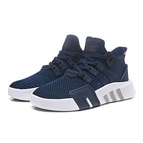 baratos Sapatos Esportivos Femininos-Mulheres Tênis Sem Salto Ponta Redonda Tissage Volant Primavera Verão Azul Escuro