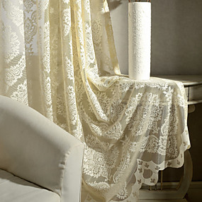 cheap Sale-Contemporary Sheer One Panel Sheer Living Room   Curtains / Jacquard