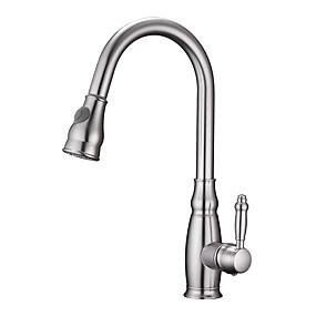 abordables Spray Amovible-Robinet de Cuisine - Mitigeur un trou Multiplex Pull-out / Pull-down Vasque