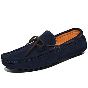 baratos Sapatos Náuticos Masculinos-Homens Mocassim Camurça Primavera / Outono Casual / Formais Sapatos de Barco Não escorregar Cinzento / Café / Azul