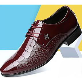 baratos Oxfords Masculinos-Homens Sapatos Confortáveis Microfibra Primavera Oxfords Vermelho / Azul / Castanho Claro