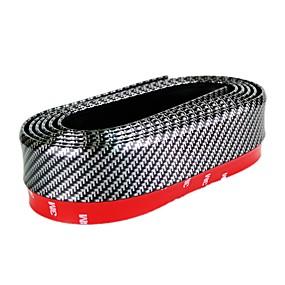 voordelige Autobumper decoratie-carbon fibe universele auto voorbumper lip kit splitter kin spoiler trim protector auto-accessoires beschermen tegen krassen / stoten