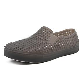 baratos Sapatilhas e Mocassins Masculinos-Homens Sapatos Confortáveis PVC Verão / Outono Esportivo / Casual Mocassins e Slip-Ons Caminhada Respirável Preto / Cinzento Claro / Azul