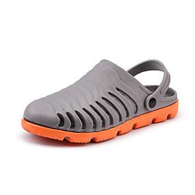 baratos Tamancos Masculinos-Homens Sapatos Confortáveis PVC Verão Esportivo / Casual Tamancos e Mules Caminhada / Tênis Anfíbio Respirável Branco / Preto / Azul / Cinzento