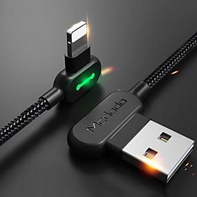 povoljno iPhone kabel i punjači-Rasvjeta Kabel 1m-1.99m / 3ft-6ft U obliku pletenice / Brzo punjenje Najlon USB kabelski adapter Za iPhone