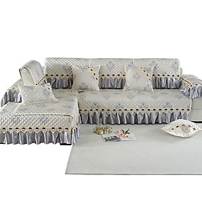 billige Varm salg-Sofa Pute Romantik / Klassisk / Moderne Mønstret / Mønsterpreget / Kviltet Bomull / Polyester / bomullsblanding slipcovere