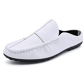 6b2373a90 رخيصةأون أحذية الرجال-رجالي أحذية الراحة PU الربيع كاجوال قباقيب والحفاية  متنفس أبيض / أسود