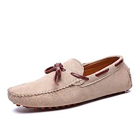 baratos Sapatos Náuticos Masculinos-Homens Sapatos Confortáveis Couro Ecológico Primavera Verão Sapatos de Barco Respirável Azul Escuro / Castanho Claro / Khaki