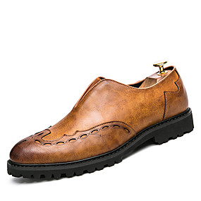 cheap Men's Slip-ons & Loafers-Men's Formal Shoes PU Spring & Summer / Fall & Winter Business / Casual Loafers & Slip-Ons Black / Yellow / Gray / Party & Evening / Party & Evening / Office & Career