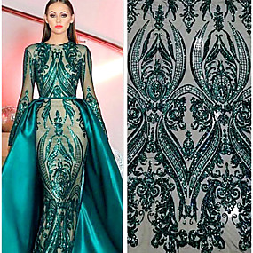 cheap Crafts & Sewing-African lace Folk style Pattern 125 cm width fabric for Special occasions sold by the 5Yard