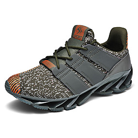 cheap Running Shoes-Men's Comfort Shoes Knit / Canvas Spring & Summer / Fall & Winter Sporty / Casual Athletic Shoes Running Shoes / Fitness & Cross Training Shoes Shock Absorbing Black / Army Green / Black / Red