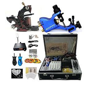 billige profesjonelle tatovering kits-BaseKey Profesjonell Tattoo Kit Tattoo Machine - 2 pcs tattoo maskiner, Profesjonell / ny Aluminium Legering 18 W 1 x roterende tatoveringsmaskin til lining og skyggelegging / 1 x legering tatovering
