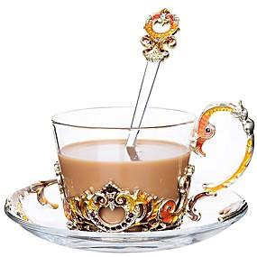 voordelige Koffie en Thee-glas Hittebestendige Creative Kitchen Gadget epäsäännöllinen 1pc Beker