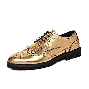 رخيصةأون أحذية أوكسفورد للرجال-رجالي أحذية رسمية PU للربيع والصيف / خريف & شتاء الأعمال التجارية / كاجوال أوكسفورد ذهبي / أسود / الحفلات و المساء