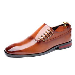 ราคาถูก รองเท้าOxfordสำหรับผู้ชาย-สำหรับผู้ชาย รองเท้าอย่างเป็นทางการ Synthetics ตก / ฤดูร้อนฤดูใบไม้ผลิ ธุรกิจ / ไม่เป็นทางการ รองเท้า Oxfords ไม่ลื่นไถล สีดำ / ไวน์ / สีน้ำตาล / พู่ / พู่ / ใส่รองเท้า