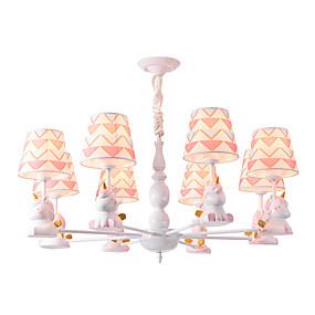 povoljno Kids Room-8 svjetla luster / lijepim privjesak svjetla bijela obojana završi tkanina hlad za dnevni boravak dječja soba vrtić spavaća soba 110-120v / 220-240 / e26 e27 bez žarulje