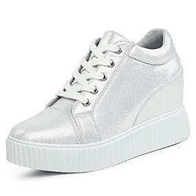 voordelige Damessneakers-Dames Synthetisch Herfst / Lente zomer Informeel / Studentikoos Sneakers Creepers Zwart / Zilver