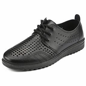 baratos Oxfords Masculinos-Homens Sapatos Confortáveis Couro Ecológico Verão Negócio Oxfords Respirável Preto / Marron / Festas & Noite / Festas & Noite