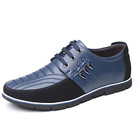 halpa Miesten Oxford-kengät-Miesten Comfort-kengät Tekonahka Kevät kesä Vapaa-aika / Englantilainen Oxford-kengät Non-liukastumisen Color Block Ruskea / Sininen / Vaalean ruskea / Juhlat