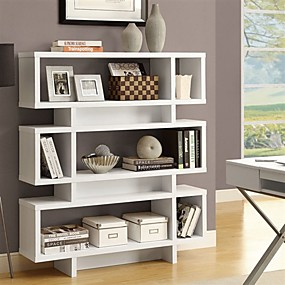 cheap Living Room Furniture-White Modern Bookcase Bookshelf for Living Room Office or Bedroom