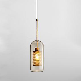 billige Hengelamper-Sylinder Anheng Lys Omgivelseslys galvanisert Glass Glass Nytt Design 110-120V / 220-240V