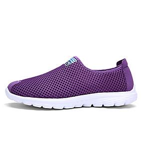 baratos Sapatilhas e Mocassins Masculinos-Homens Sapatos Confortáveis Com Transparência Verão Mocassins e Slip-Ons Cinzento Escuro / Cinzento Claro / Roxo
