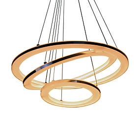 billige Hengelamper-UMEI™ Sirkelformet Anheng Lys Omgivelseslys Sølv Akryl Akryl LED 110-120V / 220-240V Varm Hvit / Hvit / Wi-Fi Smart