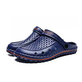 Χαμηλού Κόστους Ανδρικά Παπούτσια-Ανδρικά Παπούτσια άνεσης PU Καλοκαίρι Καθημερινό Σαμπό & Mules Μη ολίσθηση Συνδυασμός Χρωμάτων Μαύρο / Γκρίζο / Μπλε