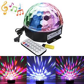 billige LED-kabinetlamper-1 sæt led scenen lys mp3 magisk bold musik lys lyd kontrol lys baggrund lys dj bar ballroom dekoration lys