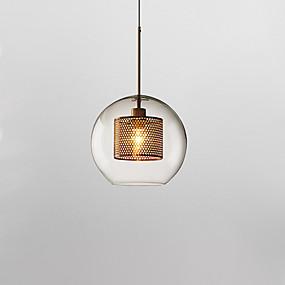 halpa Kattovalaisimet ja tuulettimet-Lantern Riipus valot Alavalot Galvanoitu Lasi Lasi Uusi malli 110-120V / 220-240V