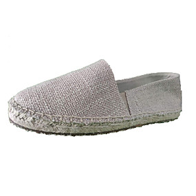 voordelige Damesinstappers & loafers-Dames Loafers & Slip-Ons Comfort Loafers Platte hak Ronde Teen Polyester Informeel / minimalisme Herfst / Lente zomer Beige