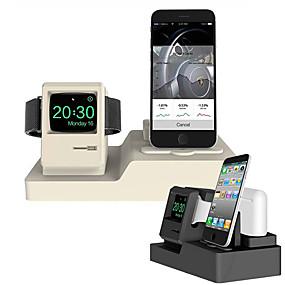 abordables 30/5000 Soportes y soportes Smartwatch-soporte de reloj de teléfono móvil auricular soporte de carga sin línea escritorio de gel de sílice de manzana / cama soporte de colocación pura