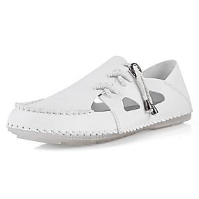 baratos Sandálias Masculinas-Homens Sapatos Confortáveis Microfibra Primavera Verão Casual Sandálias Respirável Preto / Castanho Claro / Branco