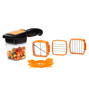 cheap Home and Garden Super Sale-5 in 1 Nicer Quick Stainless Steel Vegetable Dicer Chopper Kitchen