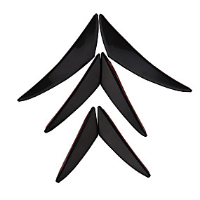 voordelige Autobumper decoratie-universele carbon voorbumper spoiler canards splitter vinnen kit - 6pcs / set