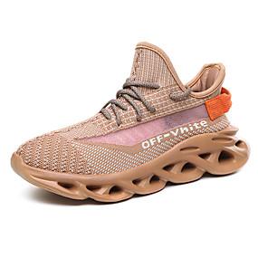 baratos Sapatos Esportivos Femininos-Mulheres Tênis Sem Salto Tricô Esportivo / Paizinho Tênis Corrida Primavera & Outono / Verão Preto / Verde / Rosa Claro