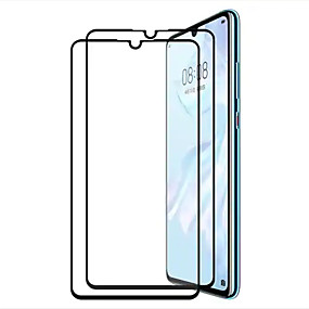 voordelige Schermbeveiligers voor mobiel-screen protector voor huawei huawei p30 gehard glas 2 stks front screen protector high definition (hd) / 9h hardheid / explosieveilige
