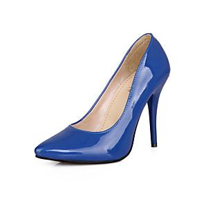 abordables Escarpins-Femme Polyuréthane Eté Escarpins Talon Aiguille Bout pointu Vert / Bleu / Rose / Soirée & Evénement