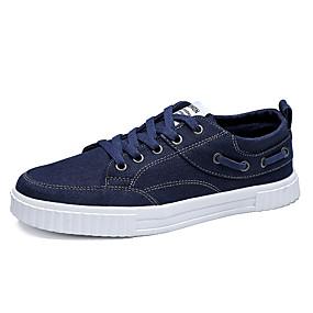 baratos Tênis Masculino-Homens Sapatos Confortáveis Jeans Primavera Verão / Outono & inverno Tênis Preto / Azul Escuro